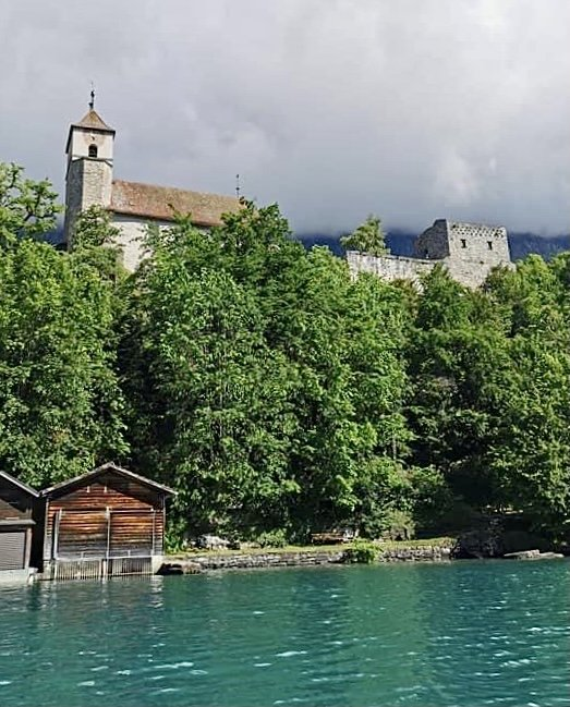 12th century Ringgenberg castle Lake Brienz
