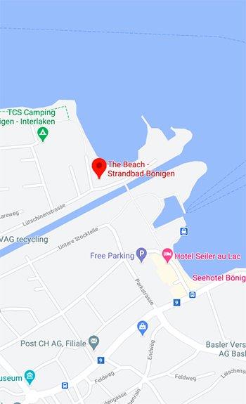 Google maps Kayaking brienzersee