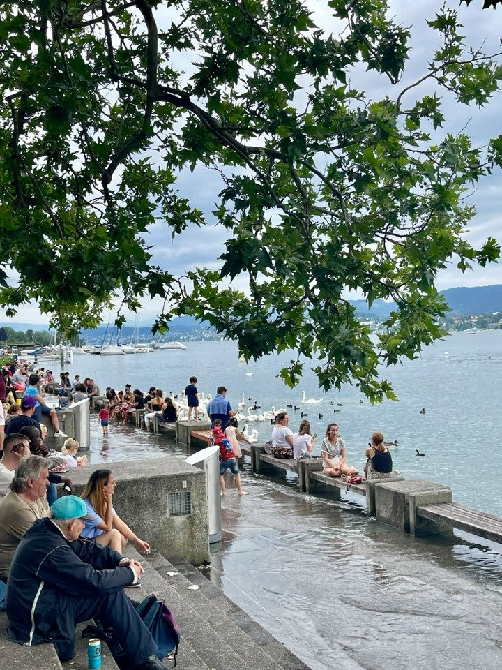 Incredible Flood Water Around Lake Zurich and Along the Limmat in July