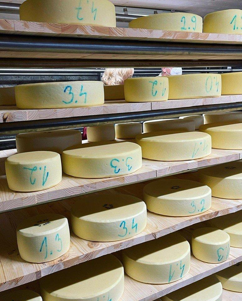 Cheese making in Saas Fee