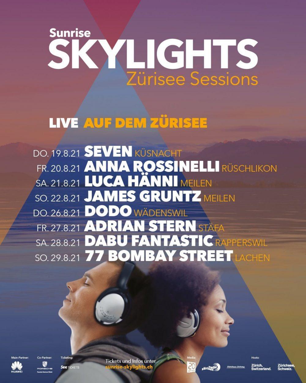 Sunrise Skylights Zürisee Sessions - Music on Lake Zurich