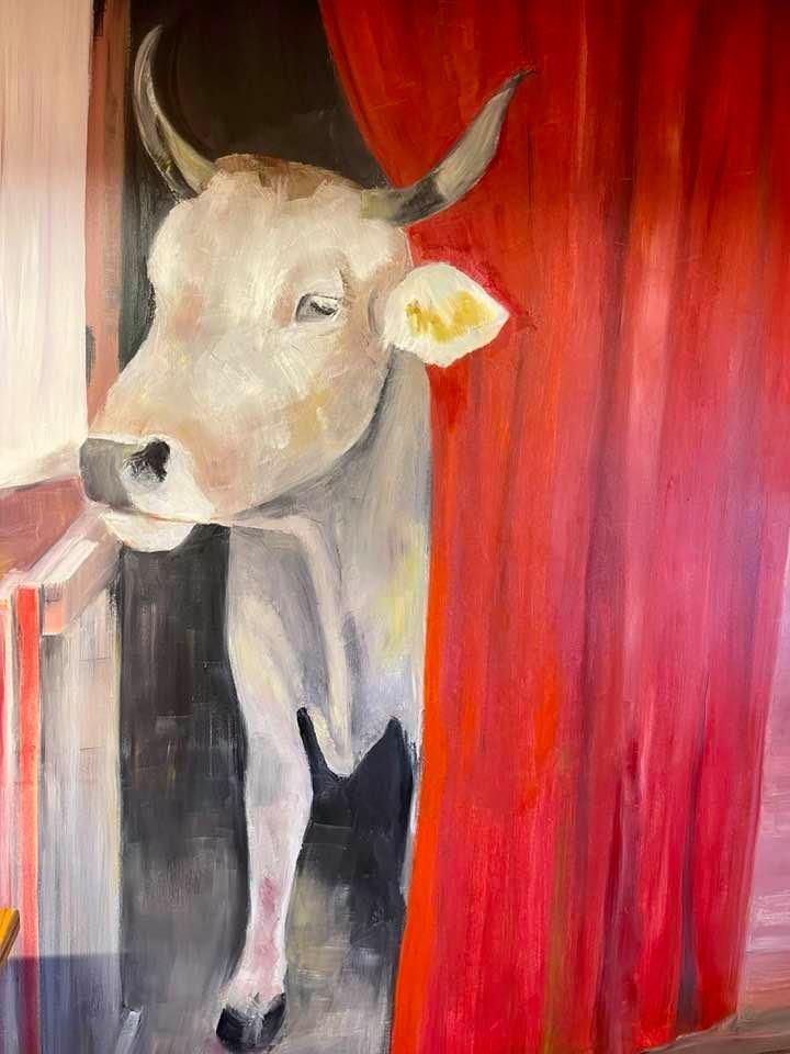 Cow painting Villars Sur Ollon