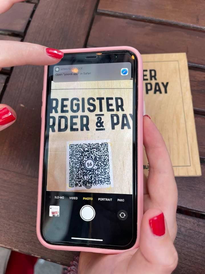 Contactless payment with QR code at Kitchen Republic