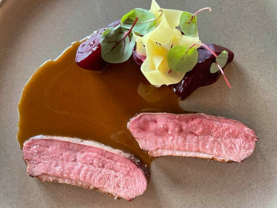 Duck and beetroot - Lunch at Roots-Basel for Nespresso