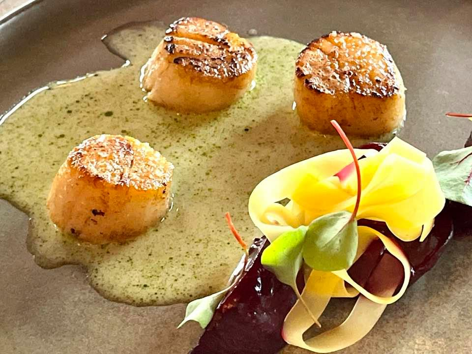 Scallops at Roots Basel for Nespresso Gourmet Weeks