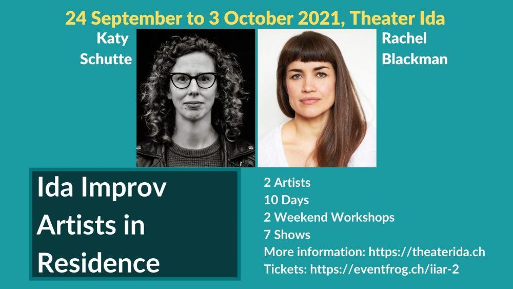 Improv Artists in Residence Katy Schutte and Rachel Blackman