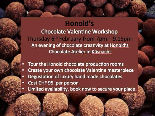 Chocolate Workshop in Zurich at Honold's