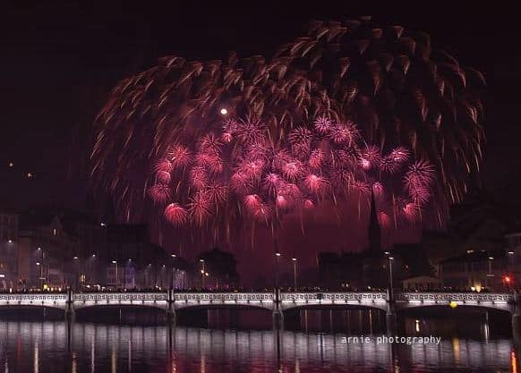 Photos of Zurich New Years Fireworks
