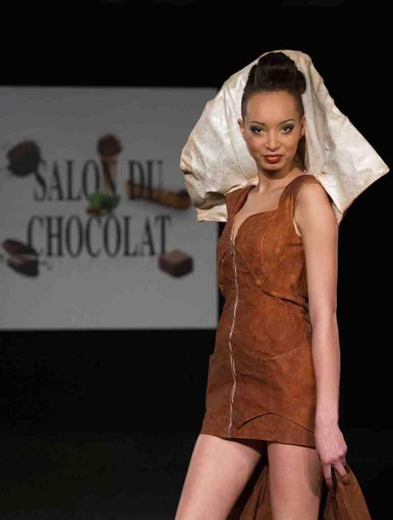 Chocolate Dresses at the Salon du Chocolat 2014 © Geoff Pegler