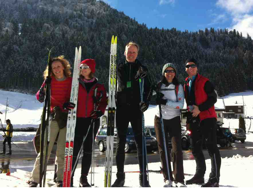 Cross country skiing in Switzerland