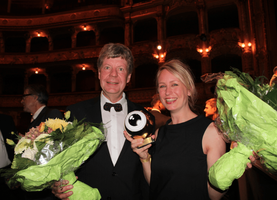 Chirstian Zingg and Anna Thommen at ZFF Awards © NewinZurich.com