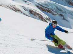 Glacier Skiing and Ski and Snowboard Testing in Saas Fee