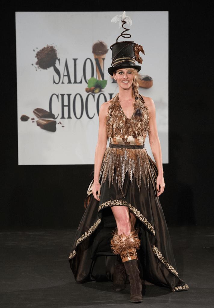 Chocolate dresses at Salon du Chocolate