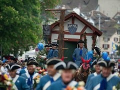 Photos of Sechseläuten and the Burning of the Böögg in Zurich 2014