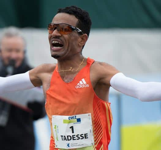 Winner of 11th Zurich Marathon Tadesse Abraham