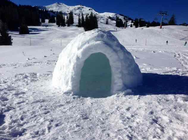 Photos of igloo in Flumserberg